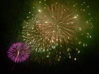 色のある花火