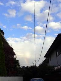 11月7日の虹・クリックすると別窓で拡大します