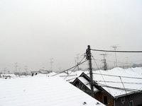 ロフトから見た雪の屋根・クリックすると拡大します