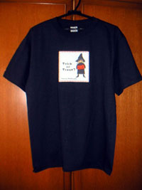 Tシャツ・ネイビーに魔女さん