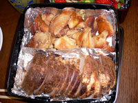 焼き豚・鶏もも肉煮物