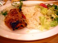 五穀米のランチ