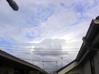 台風接近中の空