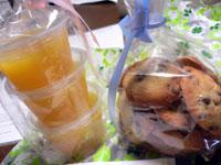 オレンジゼリーとチョコチップクッキー
