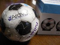 サッカーボールのジグソーパズル