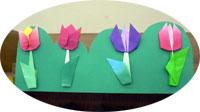 折り紙のチューリップ